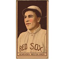 Benjamin K Edwards Collection Olaf Henriksen Boston Red Sox baseball card portrait Photographic Print