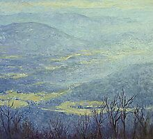 Fog in the mountains by Julia Lesnichy
