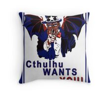 Cthulhu Wants You! Throw Pillow