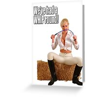 Whip round Greeting Card