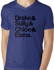 Drake & Sully & Chloe & Elena. Mens V-Neck T-Shirt