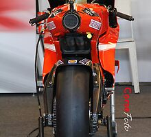 Exhaust of Ducati Moto GP Bike iPhone Case by corsefoto