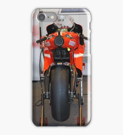 Exhaust of Ducati Moto GP Bike iPhone Case iPhone Case/Skin