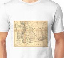 Vintage Map of Washington State (1866) Unisex T-Shirt