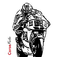 Marco Simoncelli iPhone Case by corsefoto