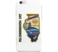 SSN-786 USS Illinois Pre-commissioning Unit Crest iPhone Case/Skin
