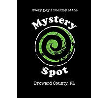 Welcome to the Mystery Spot.   Photographic Print