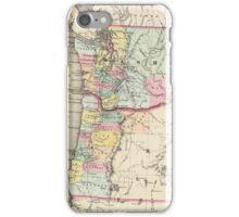 Vintage Map of Washington and Oregon (1856) iPhone Case/Skin