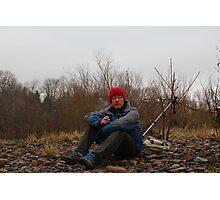 Self Portait of Ian Alex on a cold, rainy January day  Photographic Print
