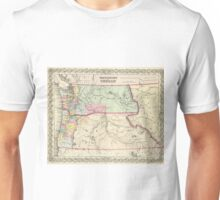 Vintage Map of Washington and Oregon (1856) Unisex T-Shirt