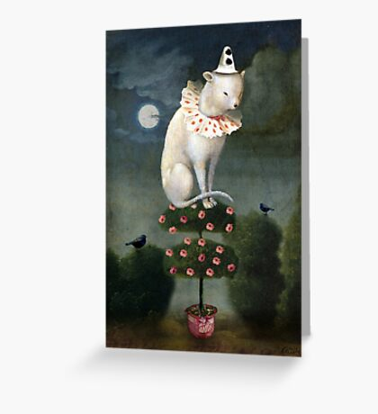 Harlekin Cat Greeting Card