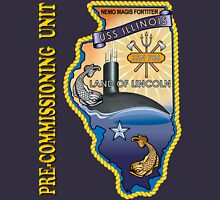 SSN-786 USS Illinois Pre-commissioning Unit Crest for Dark Colors Women's Fitted Scoop T-Shirt