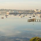Still, Foggy Corio Bay by TeaCee