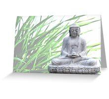 buddha (grass) Greeting Card