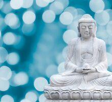 buddha lights (cyan) by hannes cmarits