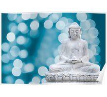 buddha lights (cyan) Poster