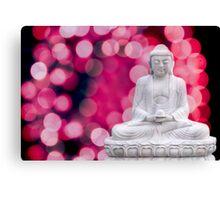 buddha lights (blue red) Canvas Print