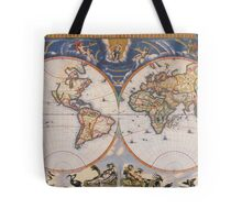 Vintage Map of The World (1662) Tote Bag