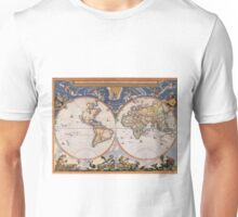 Vintage Map of The World (1662) Unisex T-Shirt