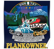 SSN-787 Plank Owner Crest for Dark Colors Poster