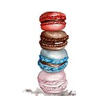 """Macarons Watercolor Illustration """"Let Them Eat Cake"""" Iphone Case! by Chelsea Easley"""