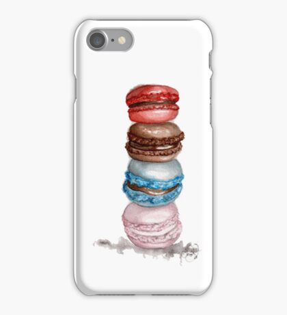 "Macarons Watercolor Illustration ""Let Them Eat Cake"" Iphone Case! iPhone Case/Skin"