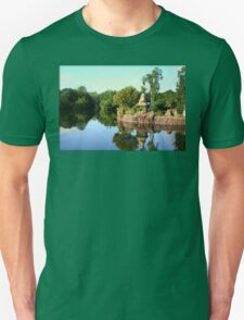 Asian Landscape Reflection in Water Unisex T-Shirt