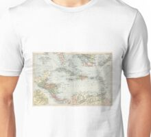 Vintage Map of The Caribbean (1892) Unisex T-Shirt