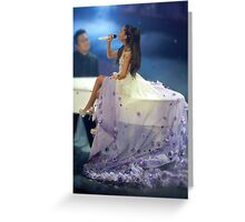 Ariana Grande Floral Dress Greeting Card