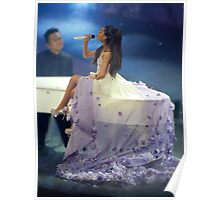 Ariana Grande Floral Dress Poster