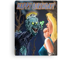 HAPPY HORRIBLE BIRTHDAY Metal Print
