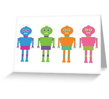 Robot Brothers Greeting Card