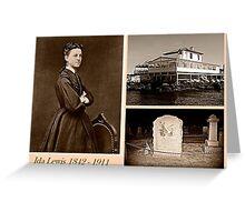 Ida Lewis, heroic Lighthouse Keeper Greeting Card