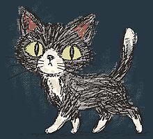 Rough sketch of a cat by Toru Sanogawa