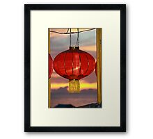 Sunset Chinese New Year Framed Print