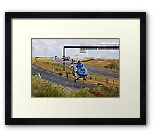 Highways are for Helicopters too Framed Print