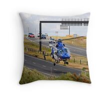Highways are for Helicopters too Throw Pillow