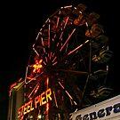 Ferris Wheel on the Steel Pier at Night, Atlantic City NJ by Jane Neill-Hancock