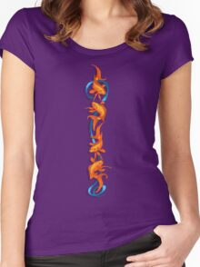 RIBBON FISH Women's Fitted Scoop T-Shirt