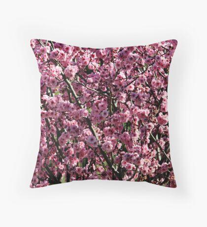Pink Peach Blossom Throw Pillow