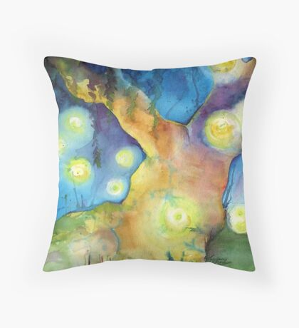 Firefly Gathering Throw Pillow
