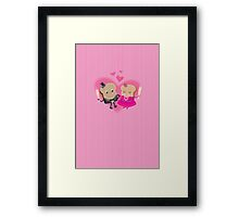 A Toast to my Valentine Framed Print