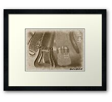 saddle up Framed Print