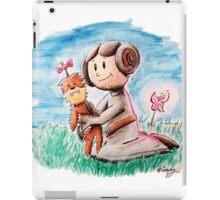 Princess Leia and Wookiee Doll Chewbacca STAR WARS fan art iPad Case/Skin