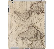Old Fashioned World Map (1795) iPad Case/Skin