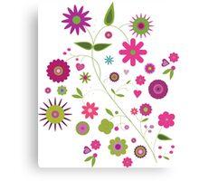 Flower Party Canvas Print