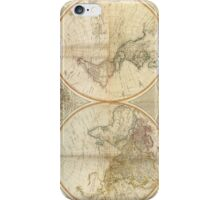 Vintage Map of The World (1799) 2 iPhone Case/Skin