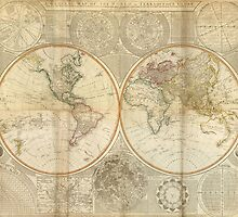 Vintage Map of The World (1799) 2 by BravuraMedia