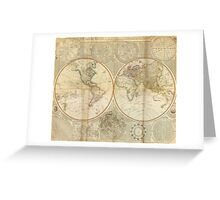 Vintage Map of The World (1799) 2 Greeting Card