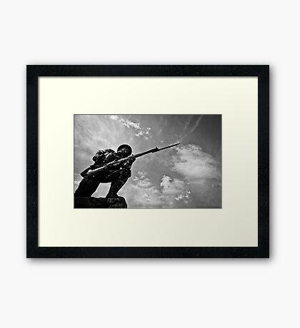 Soldier on Framed Print
